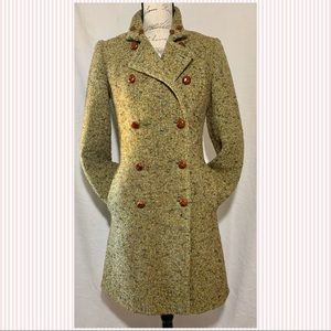 J Crew Wool Blend Trench Coat (Size: 0)